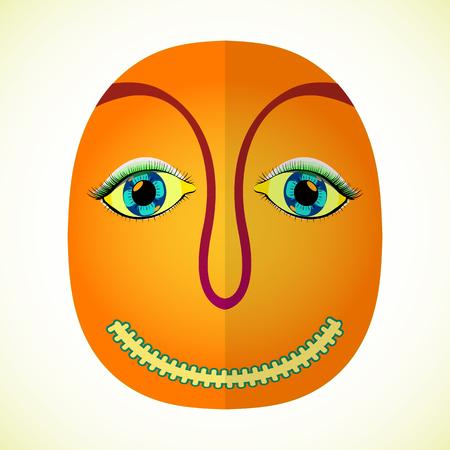 decoration decorative disguise: mardi gras face, abstract vector art illustration