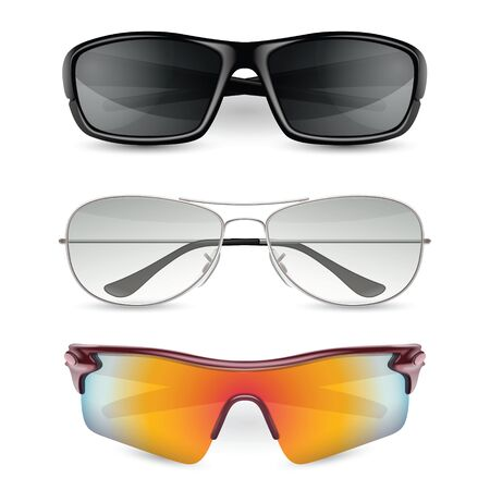 man's sunglasses set. vector  illustration