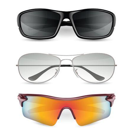 Man zonnebril te stellen. vector illustratie Stockfoto - 51239267