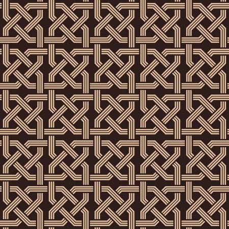 naadloze patroon van knopen ornaments.Armenian fret textuur Stock Illustratie