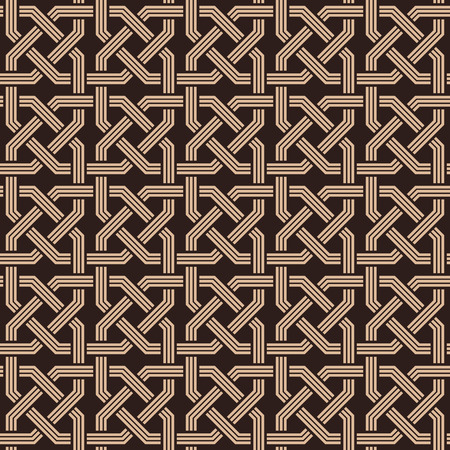 seamless pattern of knotting ornaments.Armenian fret texture