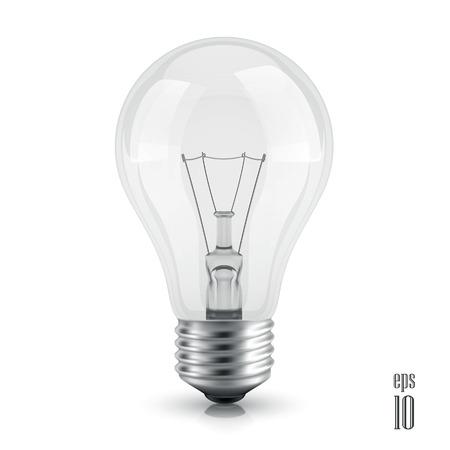 light bulb realistic vector illustration isolated on white background