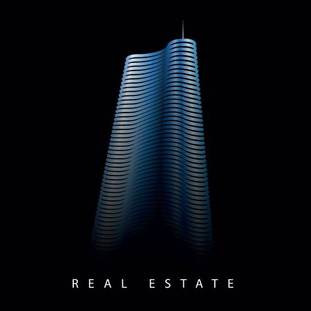 scyscraper office building real estate vector logo template Stock Illustratie