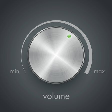 metal volume knob vector