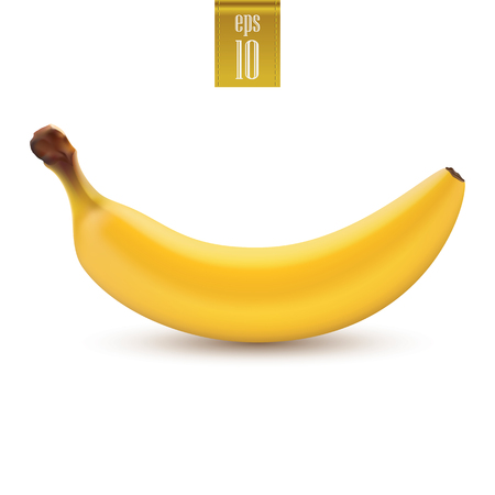 Banana vector.Eps 10 illustration isolated on white background Stock Illustratie