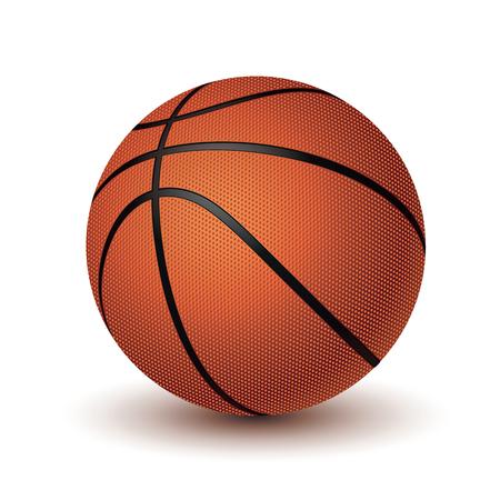 Basketbal bal vector. Eps 10 illustratie op witte achtergrond wordt geïsoleerd die Stock Illustratie