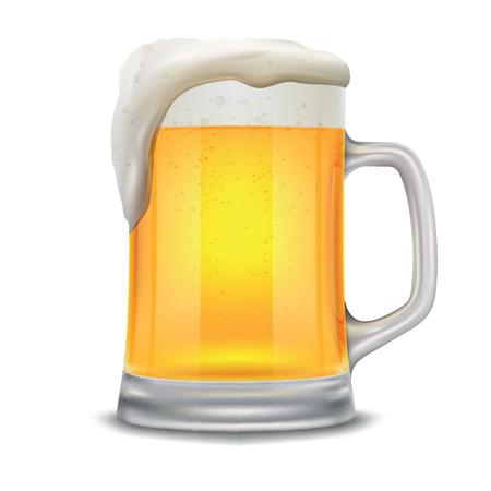 Biermok. Elementen 10 vectordieillustratie op witte achtergrond wordt geïsoleerd