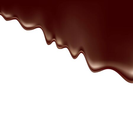 Mealted chocolate. Vector illustration isolated on white background Stock Illustratie