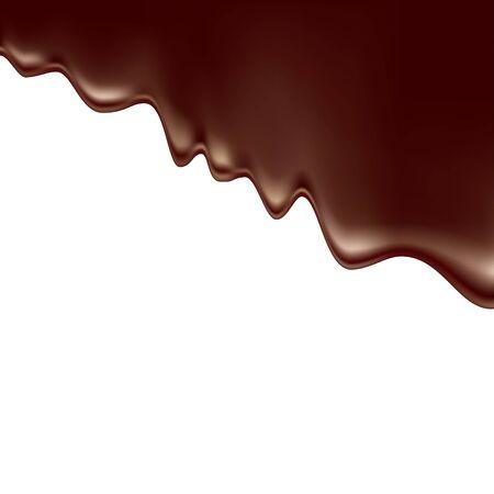 Gemoute chocolade. Vectorillustratie geïsoleerd op witte achtergrond