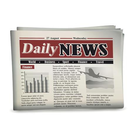 Kranten vectorillustratie