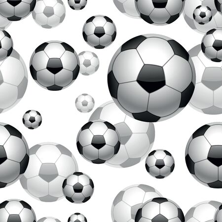 soccer balls seamless pattern background. Stock Illustratie