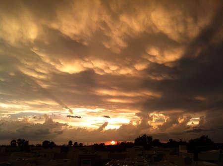 Dramatic sunset  Imagens