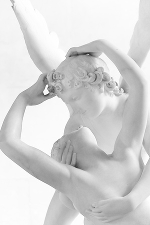 eros: Sculpture eros and psyche by Canova Editorial