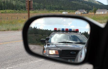 retrovisor: Espejo de Polic�a