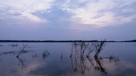 pattaya: Lake Mabprachan Pattaya Thailand at dusk