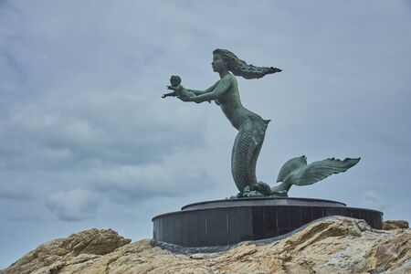 ko: Mermaid statue Ko Samed Thailand Stock Photo