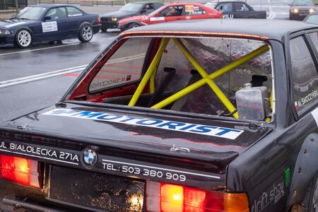 Zgierz, Poland. 24th November, 2018. Over 50 drivers and their powerful cars, some of then having 500-700 hp engines are meeting is Zgierz in central Poland for season closing. Anti rollover cage in one of cars.