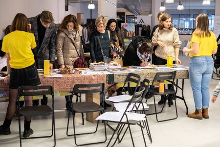 Warsaw  Poland - December 9, 2018: Write for Rights is the worlds biggest human rights event organized by Amnesty International. Over 200 000 letters are sent from Poland every year to those, whose human rights are being attacked. These people are col