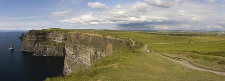 Cliffs of Moher Panorama - Ireland photo