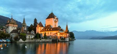 chillon: Chillon Castle - Lake Geneva Editorial