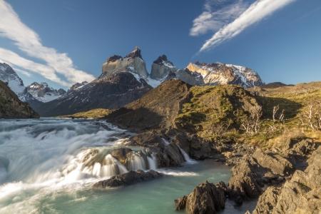 paine: Salto Grand - Torres del Paine Chile Stock Photo