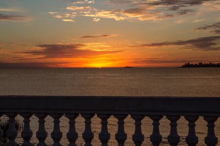 Sunset over Buenos Aires from Colonia del Sacramento