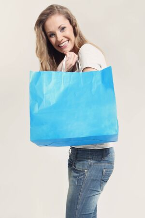 Young woman with shopping bags Stock Photo - 18570554