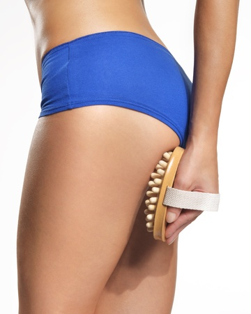smooth wood: Relaxing massage your thighs