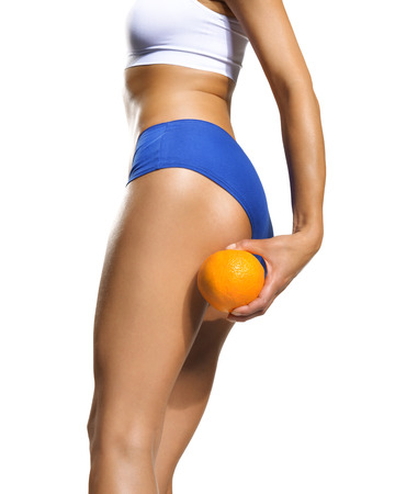 pores: orange peel Stock Photo
