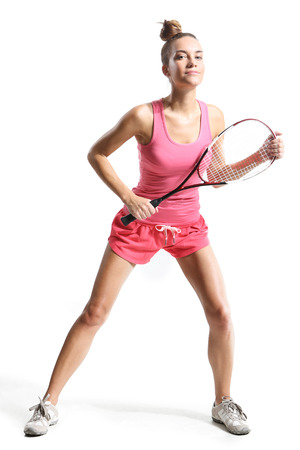 playing squash photo