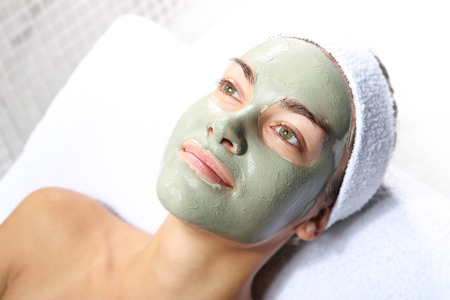 superficial: Herbal green mask  Stock Photo