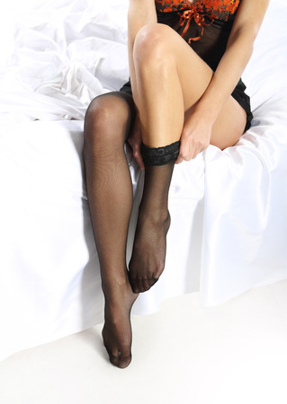 stockings feet: Dress-up tights