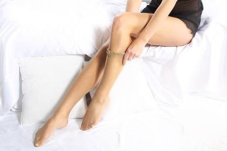 stockings feet: Application stockings