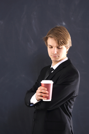 Businessman Relax with a coffee  photo