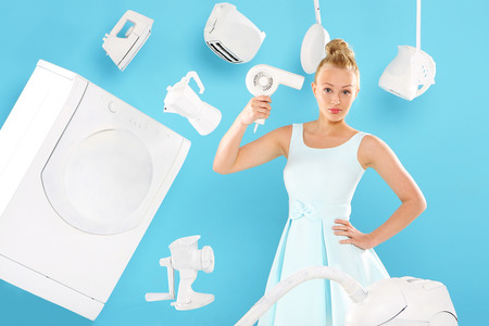 Women s duties - cooking , washing, ironing photo