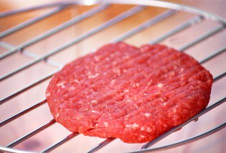 steak tartare: Minced lamb on the grill Stock Photo