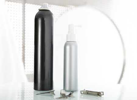 styling   cosmetic composition set on bathroom shelf   Stock Photo - 29120343