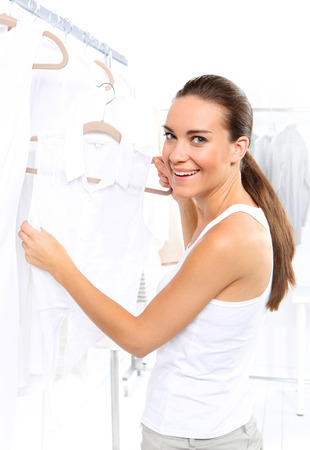 show off: Sale, woman shopping Stock Photo