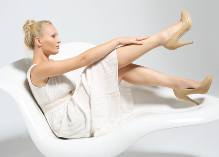 varicose veins: Smooth leather legs