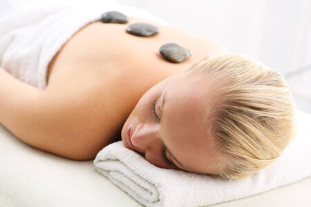 thermotherapy: Hot stone massage, thermotherapy, drainage, acupressure
