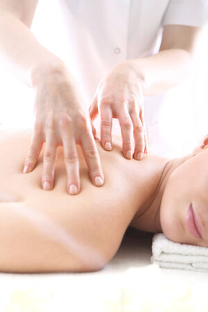 therapeutic massage: Relaxation massage, relief and relaxation