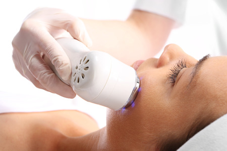 sloping: Sloping oval of the face  Ultrasound beauty treatment