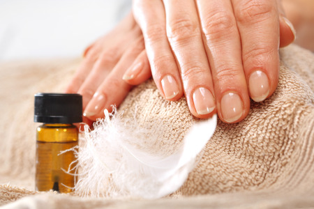 Healthy, well groomed nails, natural beauty Standard-Bild