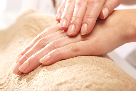 the well groomed: Healthy, well groomed nails, natural beauty Stock Photo