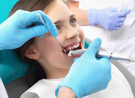 Tooth decay in children, oral hygiene photo