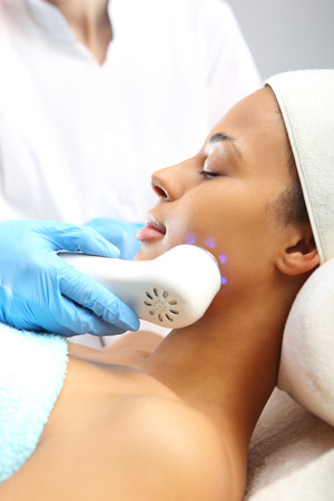 attaches: Ultrasound infrared light cosmetic treatment for the face