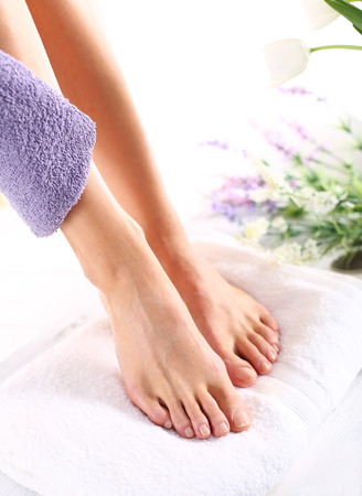Peeling feet pedicure treatment