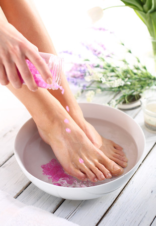 feet washing: beautiful feet