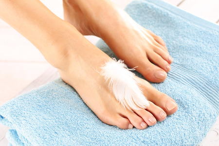 lotion: Womens feet
