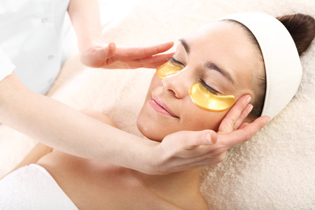 face massage: Beauty parlor, natural cosmetics